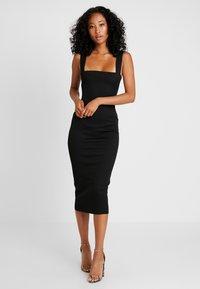 Missguided - SQUARE NECK DRESS - Etuikjoler - black - 0