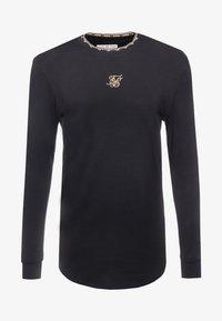SIKSILK - LONG SLEEVE CHAIN TAPE COLLAR GYM TEE - Bluzka z długim rękawem - black - 3