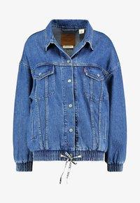 DAD SPORT TRUCKER - Denim jacket - dark-blue denim