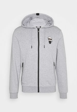 HOODY JACKET - Sweatjacke - dark grey melange