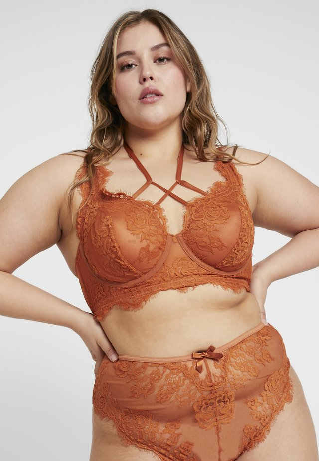 MORGAN HIGH APEX BRALET - Underwired bra - rust