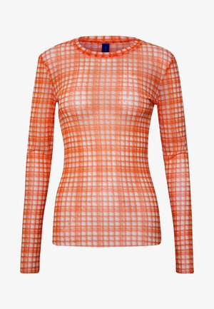 TOBY BLOUSE - Long sleeved top - neon orange