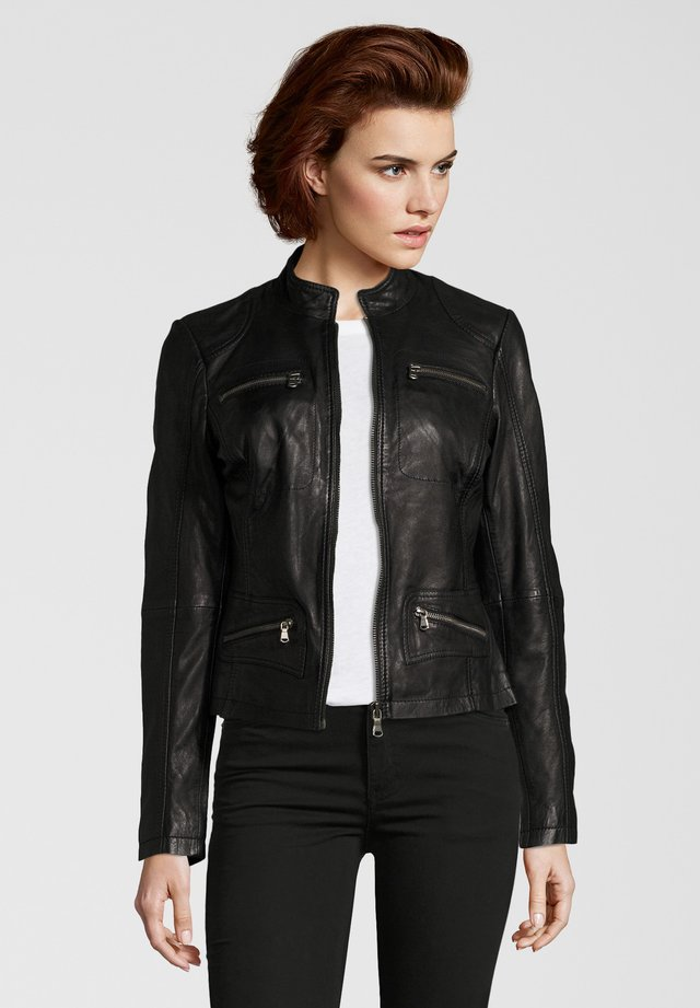 KATRIN - Leather jacket - black