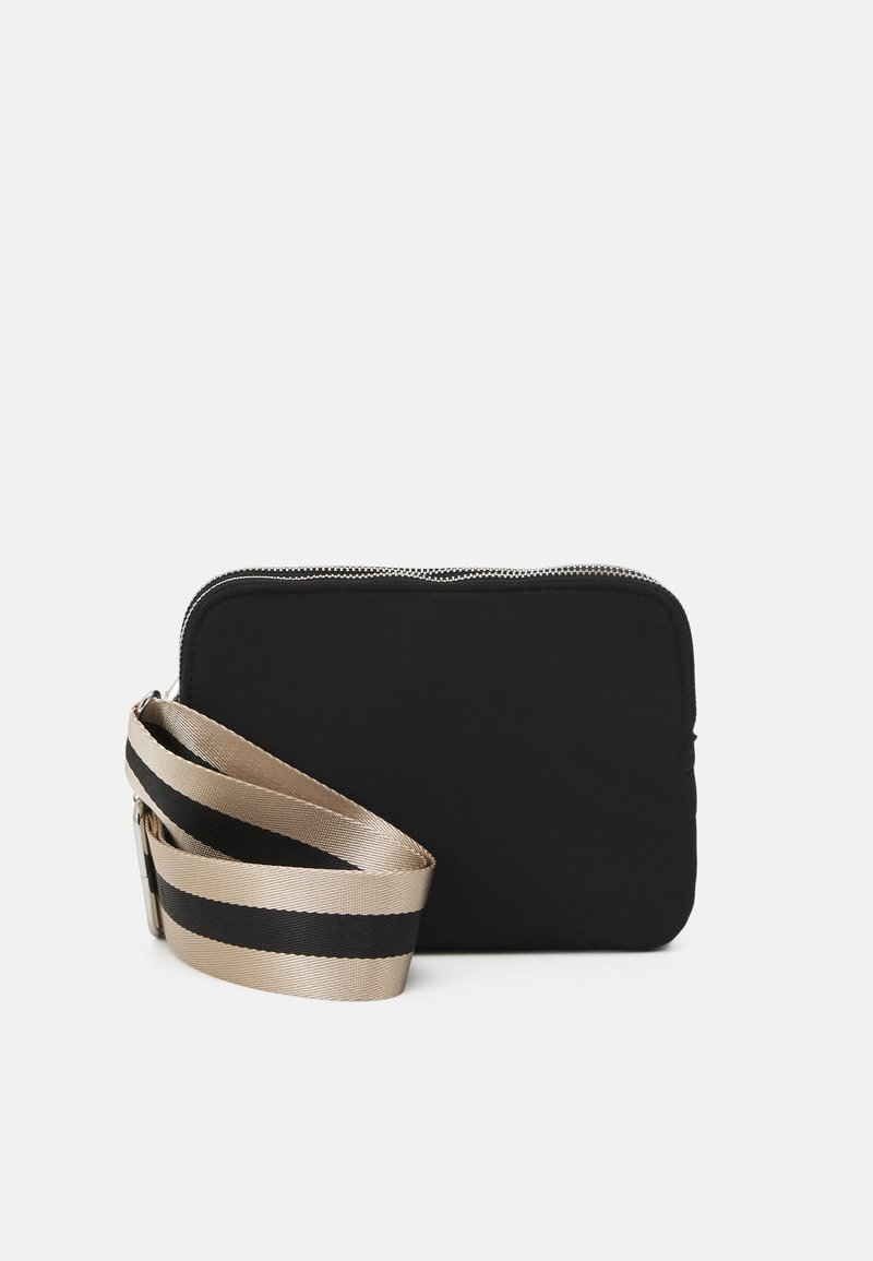 Lindex - BAG TWO POCKET - Across body bag - black