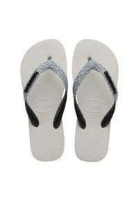 Havaianas - TOP BOLD - Pool shoes - white, black - 2