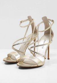 Pura Lopez - High heeled sandals - metal platin - 4