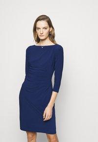 Lauren Ralph Lauren - MID WEIGHT DRESS - Shift dress - twilight royal - 0