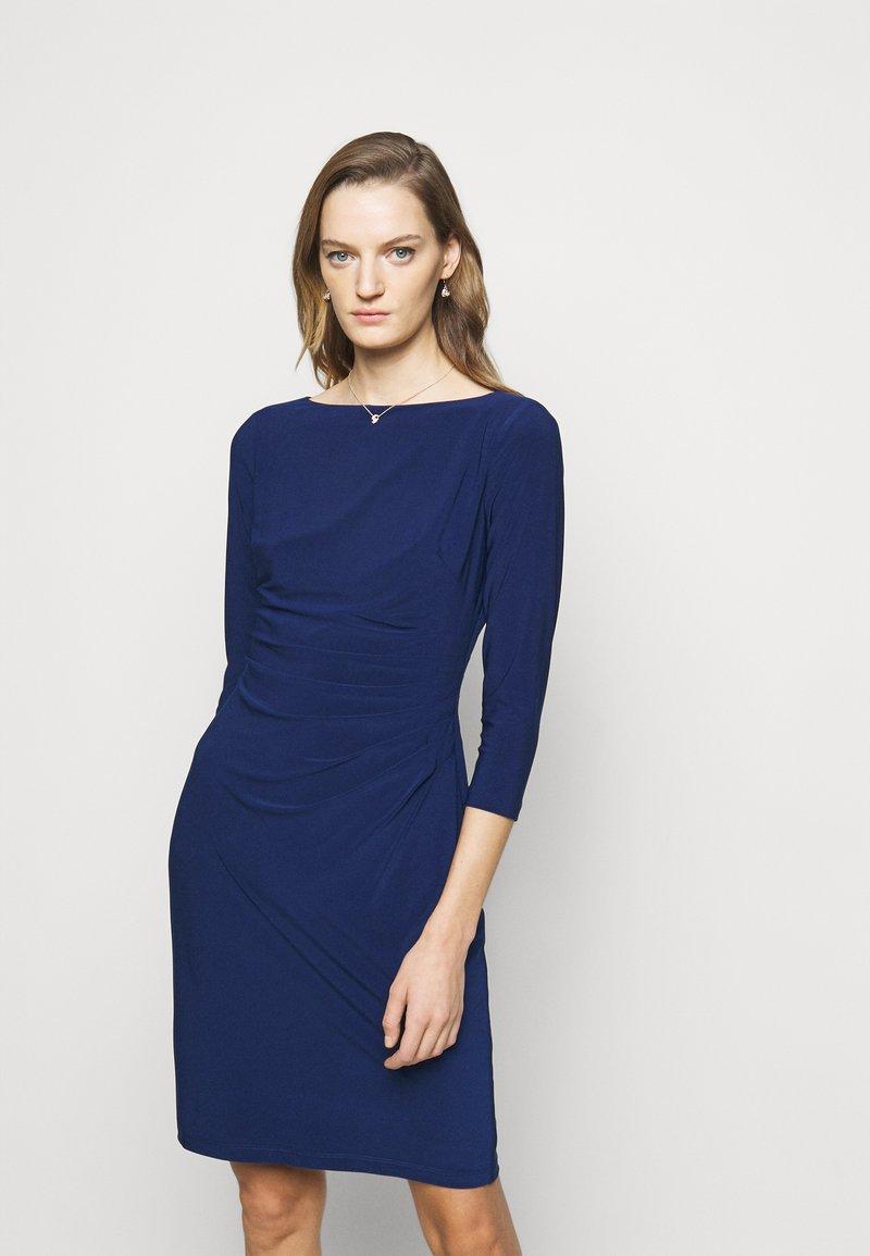 Lauren Ralph Lauren - MID WEIGHT DRESS - Shift dress - twilight royal