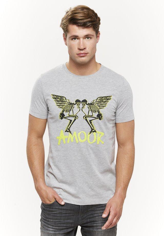 T-shirts print - grau-melange