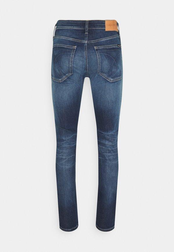 Calvin Klein Jeans SKINNY - Jeansy Skinny Fit - blue/ciemnoniebieski Odzież Męska INES