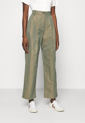 SIRID IRIDESCENT TROUSERS - Trousers - olive