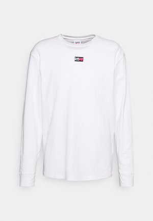 TINY SCRIPT TEE - Long sleeved top - white