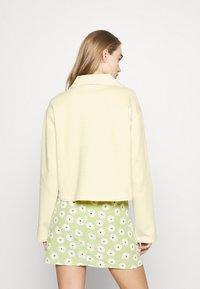 NA-KD - HALF ZIP UP - Sweatshirt - yellow - 2