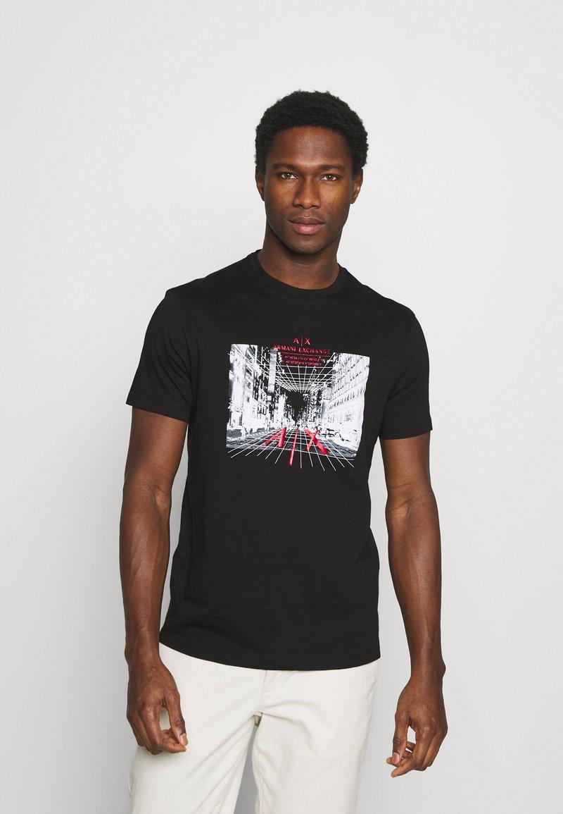Armani Exchange - T-shirt con stampa - black