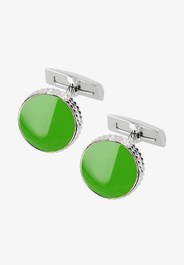 Manchetknoop - chrome lack grün poliert