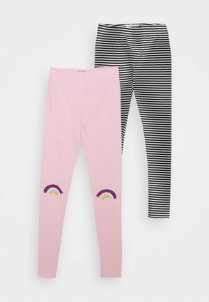 SMALL GIRLS 2 PACK - Leggings - Trousers - prism pink