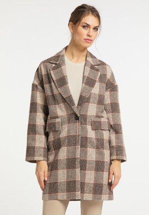 Short coat - braun kariert