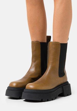 MODA - Platform ankle boots - kaki