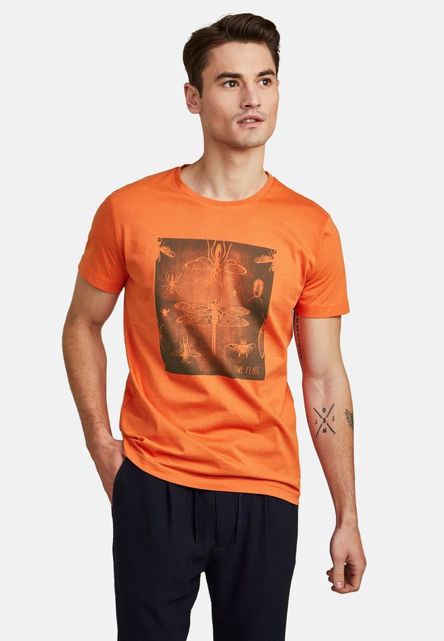 MIT GRAFIKPRINT - T-shirt imprimé - orange