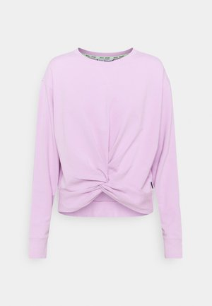 TWIST FRONT CREWNECK - Sweatshirt - lilac