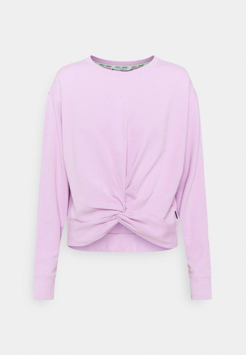 DKNY - TWIST FRONT CREWNECK - Sweatshirt - lilac