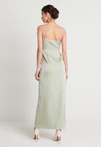NA-KD - HIGH SLIT DRESS - Maxi dress - dusty green - 2