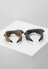 ONLY - ONLKATIE KNOTTED HAIRBAND 2 PACK - Håraccessoar - black/black cognac - 2
