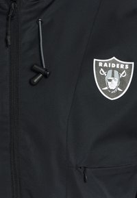 Fanatics - NFL OAKLAND RAIDERS ICONIC BACK TO BASICS MIDWEIGHT JACKET - Club wear - black - 6