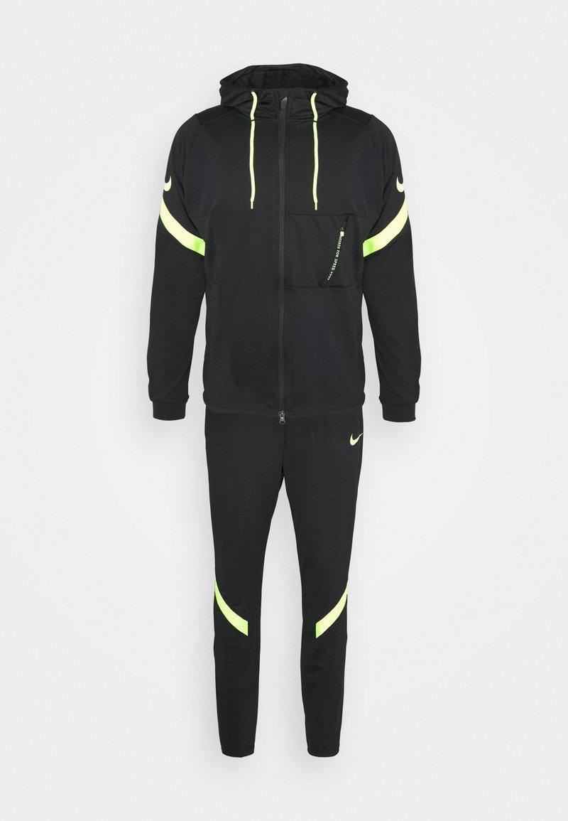 Nike Performance - DRY STRIKE SUIT - Tracksuit - black/volt