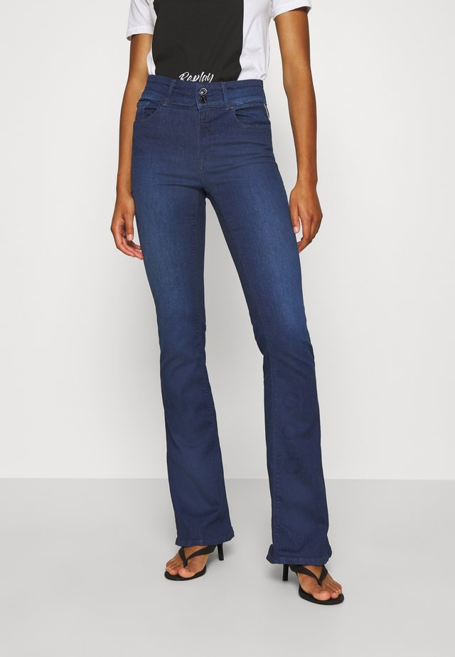 NEWLUZ - Flared Jeans - dark blue