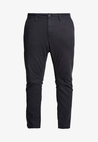 TOM TAILOR MEN PLUS - WASHED STRUCTURE  - Trousers - dark grey yarndye structure - 3