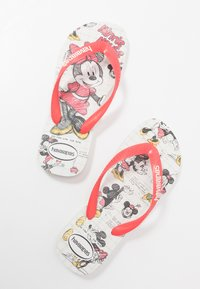 Havaianas - DISNEY STYLISH - Pool shoes - white/coralnew - 6