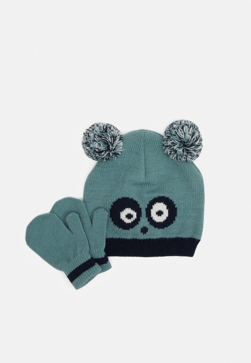 Color Kids - HAT SET UNISEX - Beanie - mineral blue