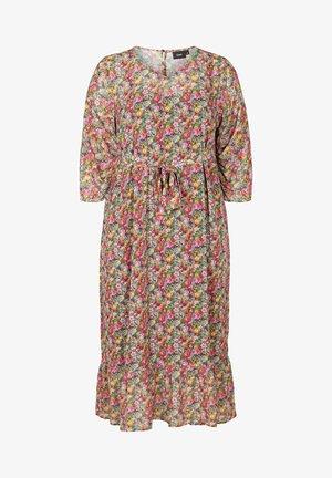 Robe d'été - pink flower aop