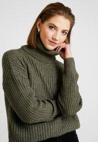 Even&Odd - Sweter - khaki - 3