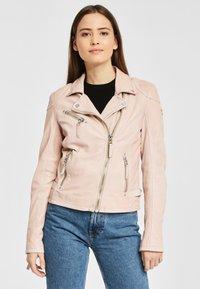 Gipsy - PGG LABAGV - Leather jacket - pink - 0