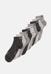 UNISEX QUARTER PLAIN 9 PACK - Sports socks - grey combo