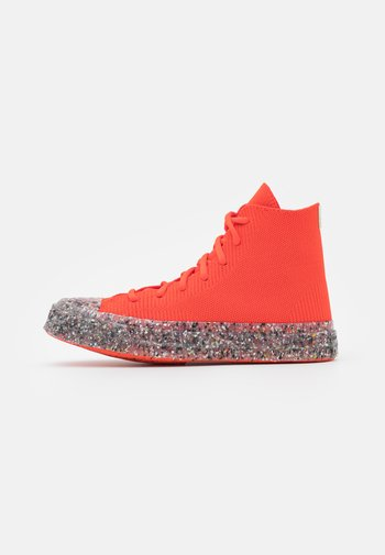 RENEW CHUCK 70 RECYCLED UNISEX - Baskets montantes - bright poppy/string/barely volt