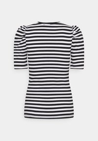Pieces - PCANNA - Print T-shirt - brigth white/black - 1