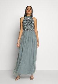 Lace & Beads - GUI MAXI - Suknia balowa - teal - 0