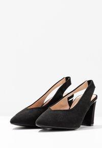 Dorothy Perkins - EMILY BLOCK HEEL SLINGBACK COURT - Classic heels - black - 4