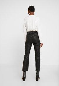 InWear - CEDAR PANT - Leather trousers - black - 2
