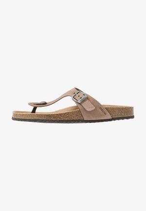 BRIONIA - T-bar sandals - taupe