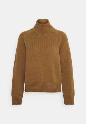 LONGSLEEVE STAND UP - Jumper - brown
