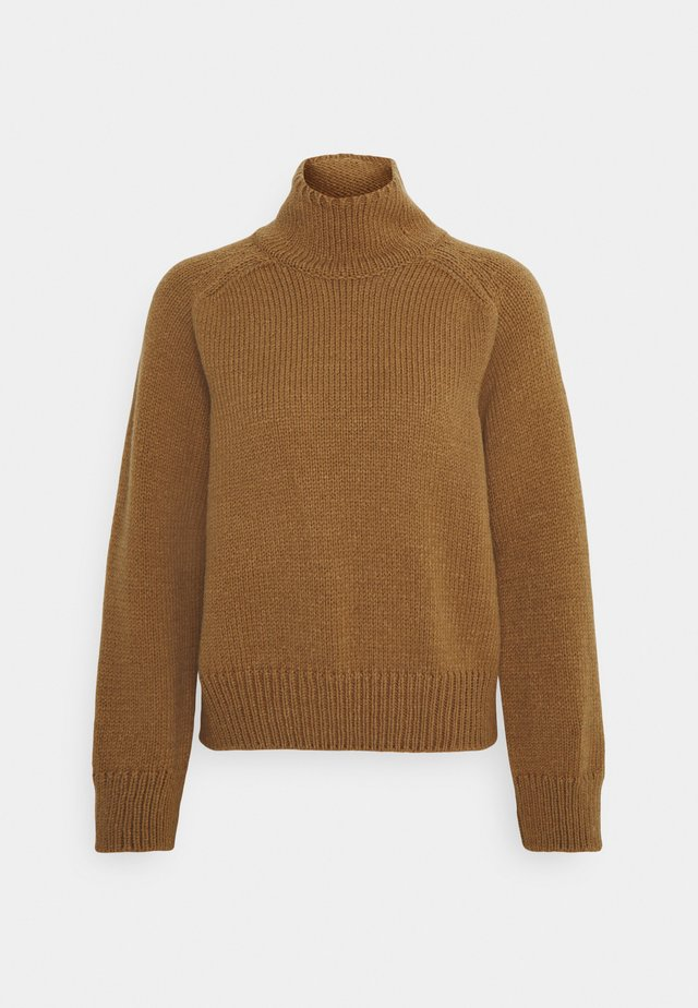 LONGSLEEVE STAND UP - Sweter - brown