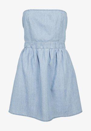 BANDEAU - Denim dress - light blue denim