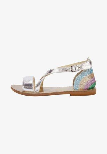 Sandals - silver metallic