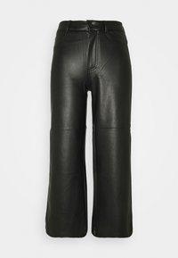 ONLMADISON WIDE CROP - Trousers - black