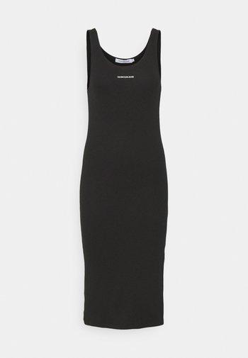 MICRO BRANDING STRAPPY - Shift dress - black