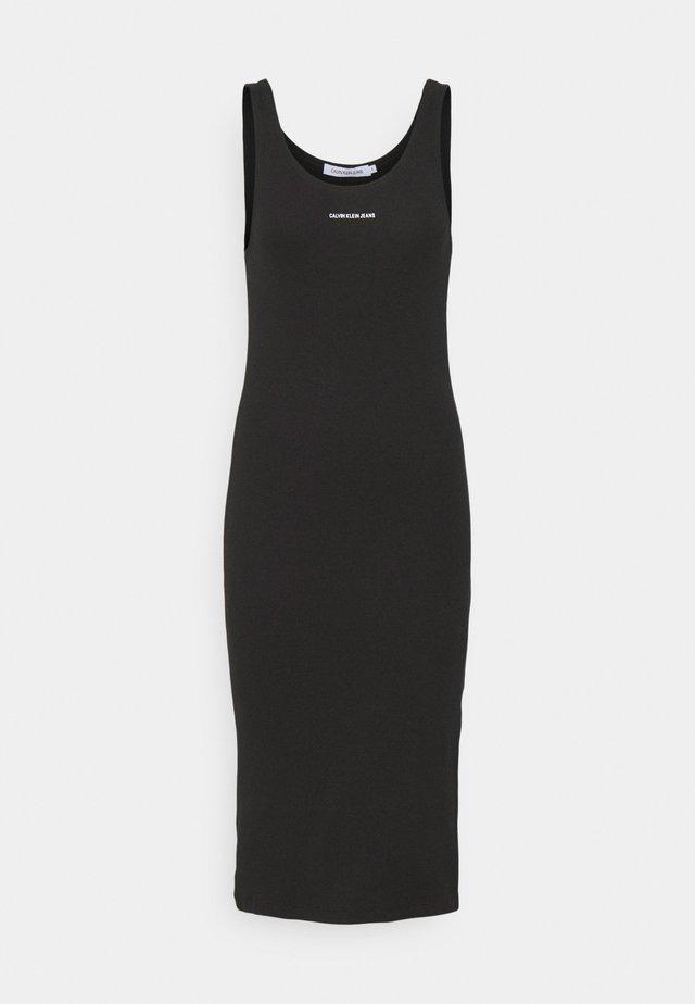 MICRO BRANDING STRAPPY - Sukienka etui - black